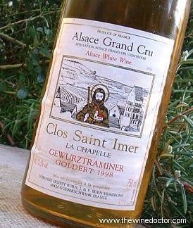 Ernest Burn Alsace Grand Cru Goldert Clos Saint Imer Gewurztraminer 1998