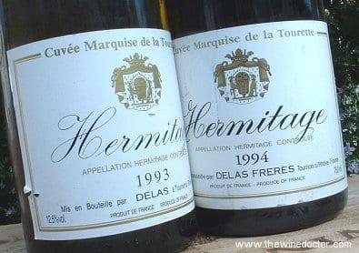 Delas Hermitage Marquise de la Tourette Blanc 1993