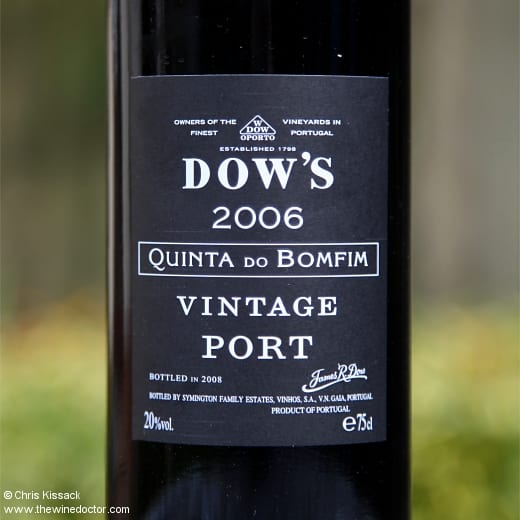 Dow's Quinta do Bomfim Vintage Port 2006