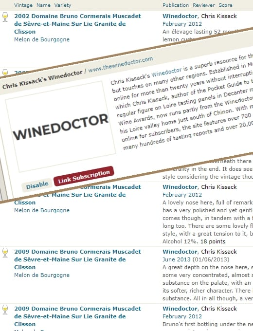 Winedoctor on Cellar Tracker