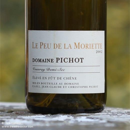 Domaine Pichot Vouvray Demi-Sec Le Peu de la Moriette 2002