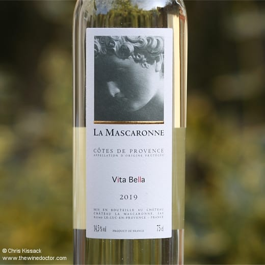 Château La Mascaronne Côtes de Provence Blanc Vita Bella 2019
